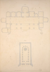 Ground Plans of Cave 7 and Cave 9, Ajanta